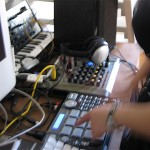 Playing the pads on the MPC to trigger sounds
