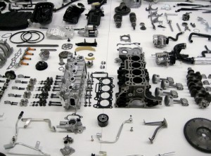 Small parts arranged together into bigger (and higher-level functionality) parts