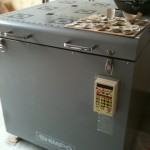 The big oven and its electronic temperature control unit